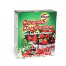 Frozen sour cherries + strawberries